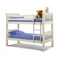 Barcelona Wooden Bunk Bed Stone White - Brixton Beds