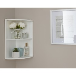 Colonial Corner Wall Shelf Unit White