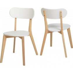 2 x Julian Stacking Chair White Natuarl