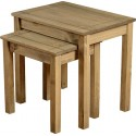 Panama Nest Of 2 Tables in Natural Wax