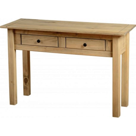 Panama 2 Drawer Console Table in Natural Wax