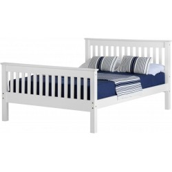 Monaco 4' Bed High Foot End in White
