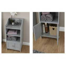 COLONIAL 2 DOOR DELUXE CUPBOARD GREY