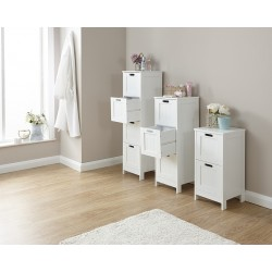 COLONIAL 4 DRAWER SLIM CHEST IN WHITE