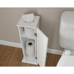 COLONIAL TOILET ROLL CUPBOARD WHITE