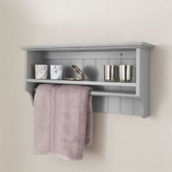 COLONIAL TOWEL RAIL SHELF GREY