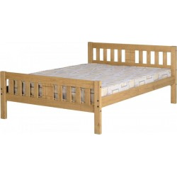 """Rio 4'6"""" Bed in Distressed Waxed Pine"""