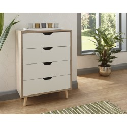 STOCKHOLM 4 DRAWER CHEST WHITE OAK