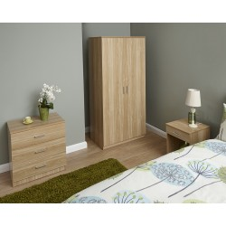 PANAMA 3 Piece Bedroom Set In Oak