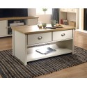 LANCASTER 2 Drawer Coffee Table In Cream