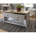 LANCASTER 2 Drawer Coffee Table In Grey