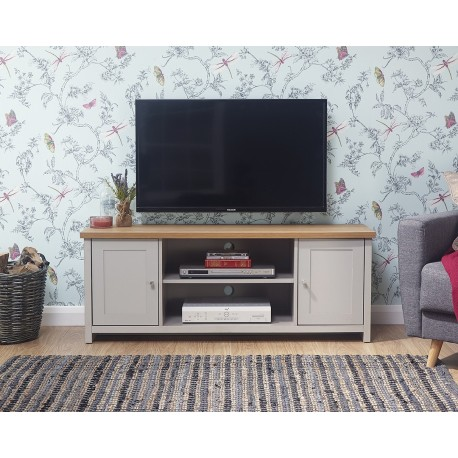 LANCASTER Large TV Unit In Grey