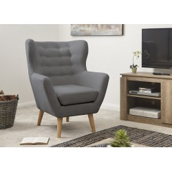 STANLEY Modern Buttoned Wing Chair