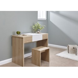 MARLOW Dressing Table Set In Oak/White Top