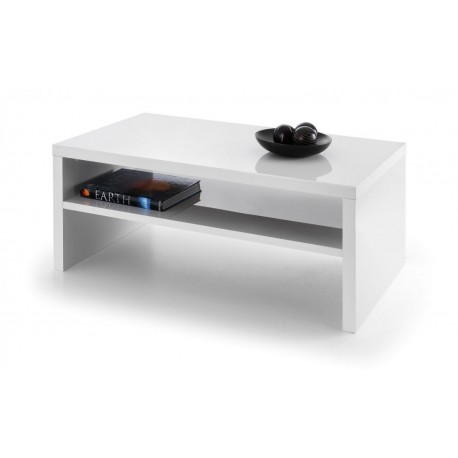Metro High Gloss Coffee Table White Brixton Beds