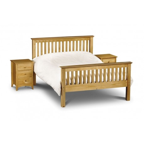 Barcelona Bed - High Foot End Pine