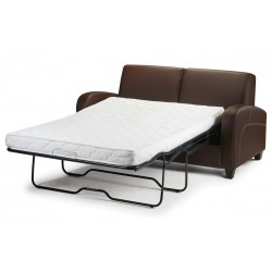 Vivo Sofabed in Chestnut Faux Leather