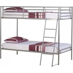 Brandon 3ft Single Bunk Bed in Silver