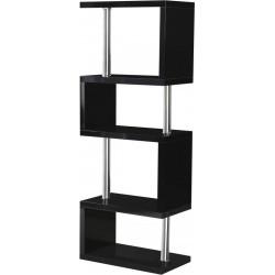 Charisma 5 Shelf Unit in Black Gloss/Chrome