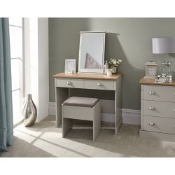 KENDAL Dressing Table with Stool Grey