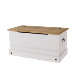Corona White Storage Trunk