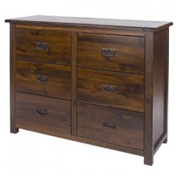 3+3 Drawer Wide Chest