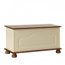Copenhagen Blanket Box in Cream/Pine