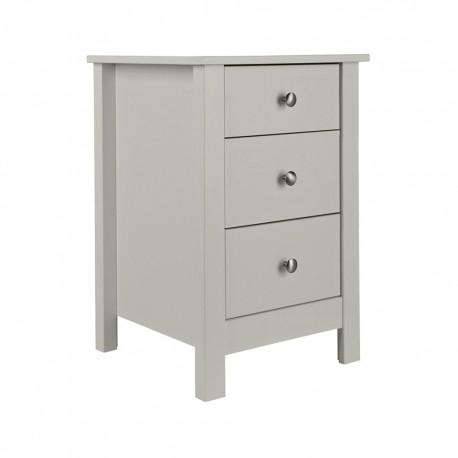 Florence 3 drawer bedside in Soft Grey