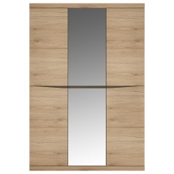 Kensington 3 Door Wardrobe with Centre Mirror doorin Oak