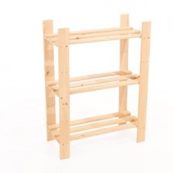3 Shelf Slatted Storage Unit