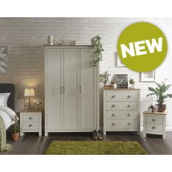 LANCASTER 4 Piece Bedroom Set IN Cream