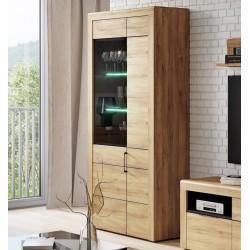 Camar Large Oak Effect 2 Door Display Cabinet K12