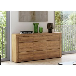 Camar Large Oak Effect 3 Drawer Sideboard K45