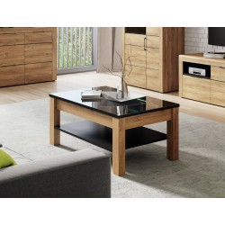Camar Oak Effect and Black Gloss Coffee table K41