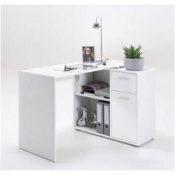 Carin Corner Flexi Desk White