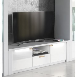 Ice White High Gloss TV Unit