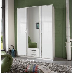 Ivana German White Gloss 3 Door Wardrobe