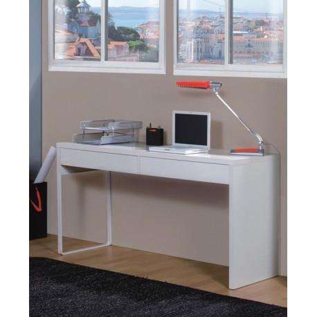 Kuba White Gloss Desk With Drawers
