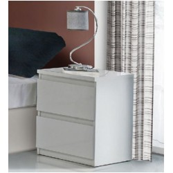 Louise Black Gloss Bedside Table