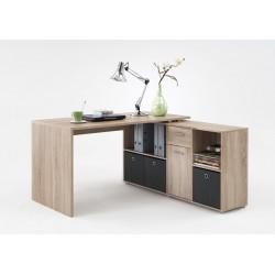 Luiz Oak Flexi Corner Office Desk