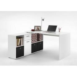 Luiz White Flexi Corner Office Desk