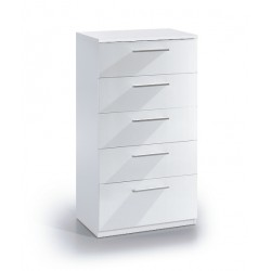 Madrid White Gloss Tall Chest Of Drawers