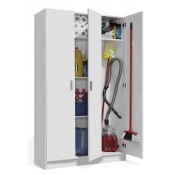 Multi Purpose White Wide Storage Cupboard 3 Door