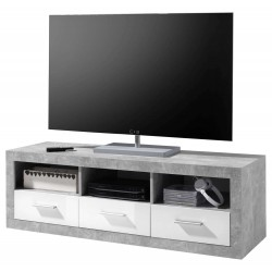 Pietra Large TV Cabinet Grey and White Gloss