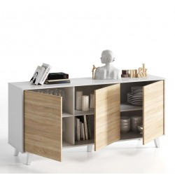 Toris Sideboard White with Oak Effect