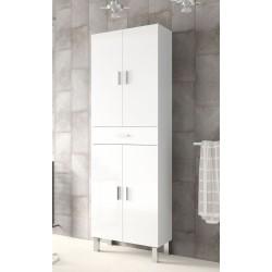 Valdo Tall Bathroom Cupboard White Gloss