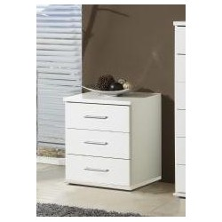 Venice Alpine White Bedside Chest Of Drawers