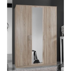 Venice Oak Effect 3 Door Wardrobe