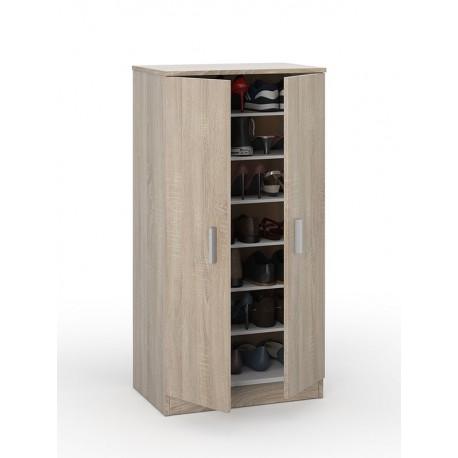 Zuldy Oak Effect Shoe Cabinet