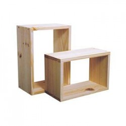P/S Set Of Two Wall Cubes
